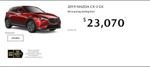 Ontario March 2019 Special Offer on a Mazda CX-3