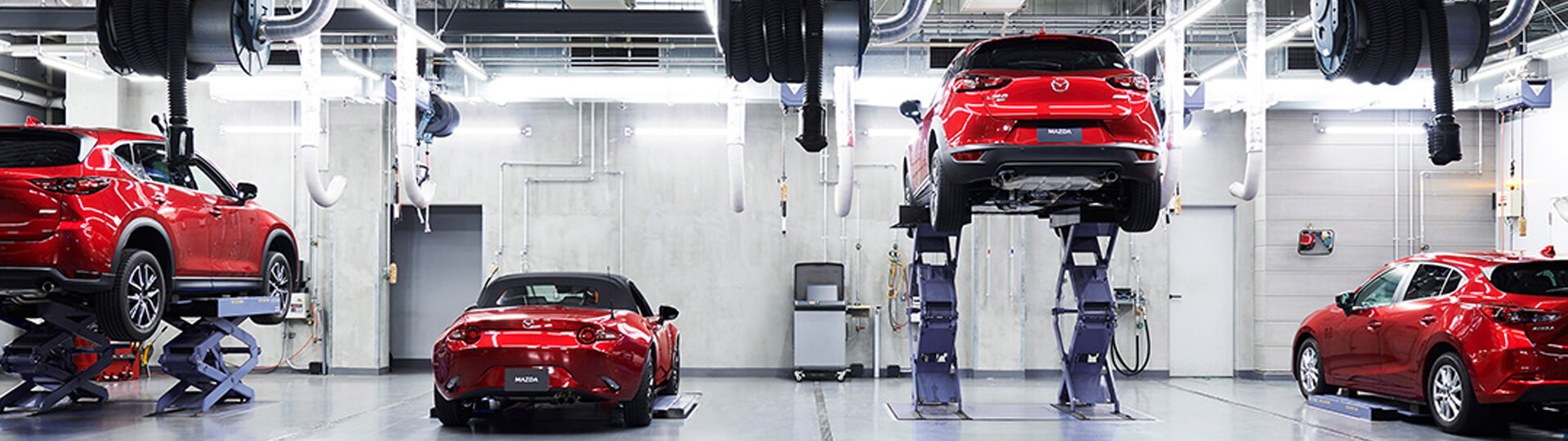 Mazda Vehicles receiving their regularly scheduled maintenance.